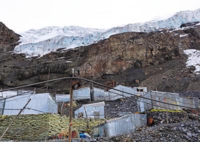 Suspended glacier above La Rinconada